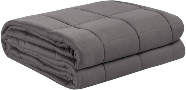 Heavy Blanket Weighted Blanket Anxiety Gravity Grey for Stress Relief Sensory Calming Blanket for Restful Sleep, 100% Cotton with Glass Beads
