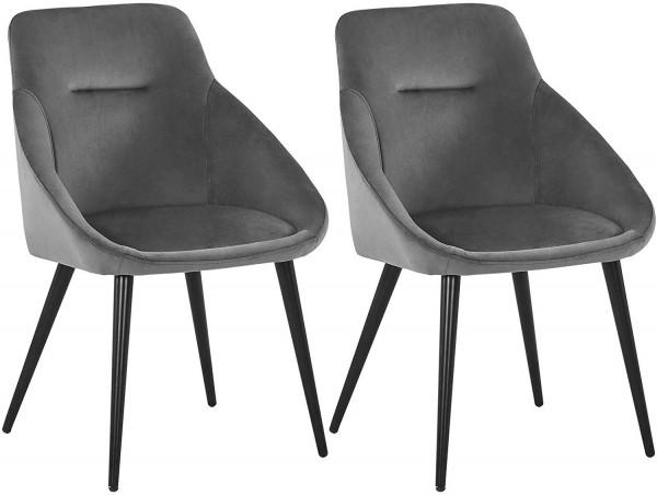 2er-Set Küchenstühle mit Armlehnen im modernen Design