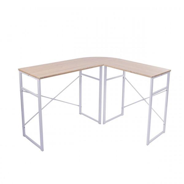 L-Form Schreibtisch Computertisch Arbeitstisch Holz Stahl