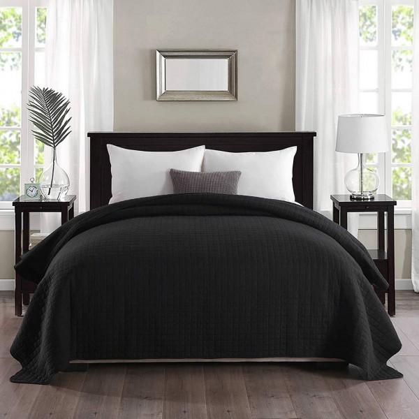 Tagesdecke in zweifarbig,schwarz