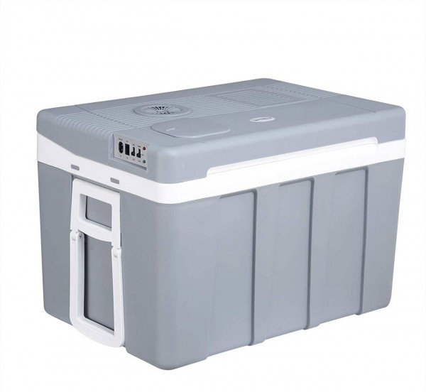 Kühlbox mi Rollen für Auto & Camping Warm-Kalt 50L A++, grau