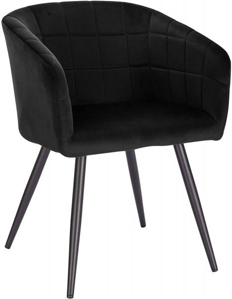 Esszimmerstuhl aus Samt & Metall - Modell Annika