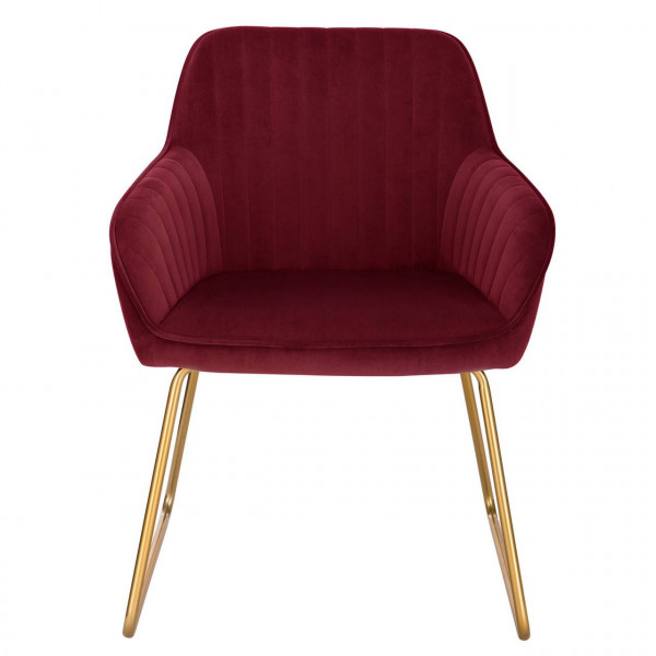 1x velvet dining chair - model Kerstin