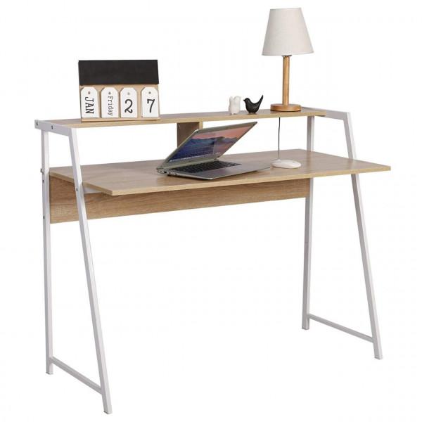 Schreibtisch Computertisch Arbeitstisch Holz Stahl TSG20hei