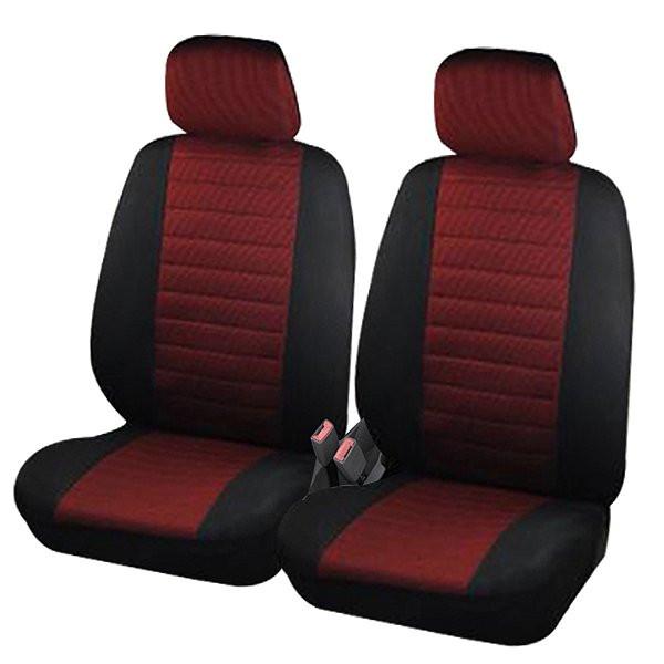 Auto Sitzbezüge Schwarz/Rot (2er Set)