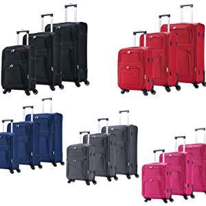 Reisekoffer Stoff 4 Rollen 1200D Oxford Weichschale M/L/XL