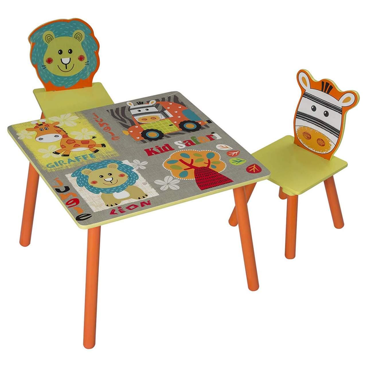 WOLTU 3tlg. Kinder Sitzgruppe Waldtiere Tisch & Stuhlsets