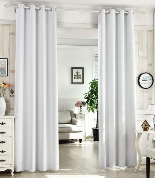 2er Set Gardinen Vorhang Blickdicht mit Ösen