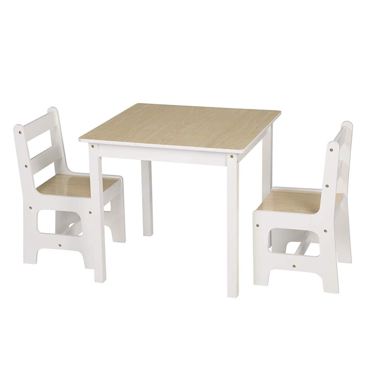 Kindersitzgruppe Kindertisch Mit 2 Stuhle Sitzgruppe Fur Kinder Vorschuler Kindermobel Woltu Eu