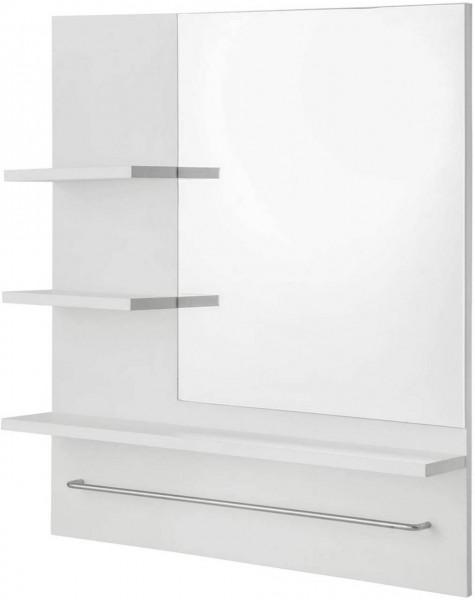 Spiegelschrank mit 3 Ablagen aus Holz, weiß