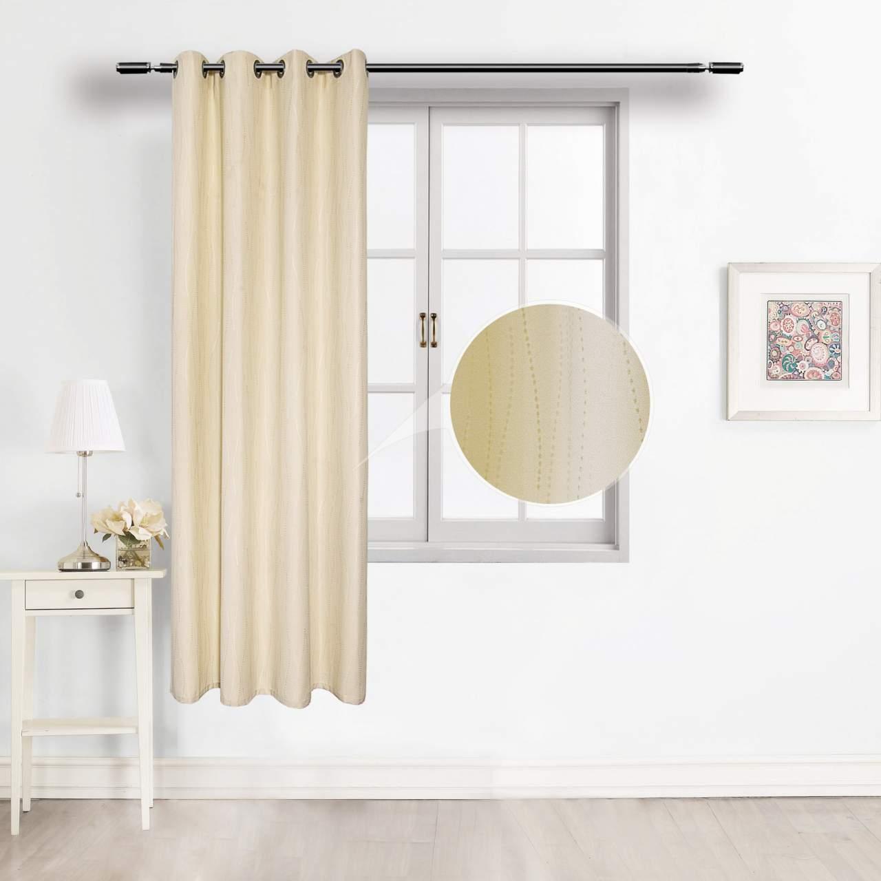 Gardine Vorhang mit Ösen Blickdicht für Wohnzimmer