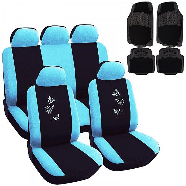 Auto Sitzbezüge + Fußmatten mit Butterfly