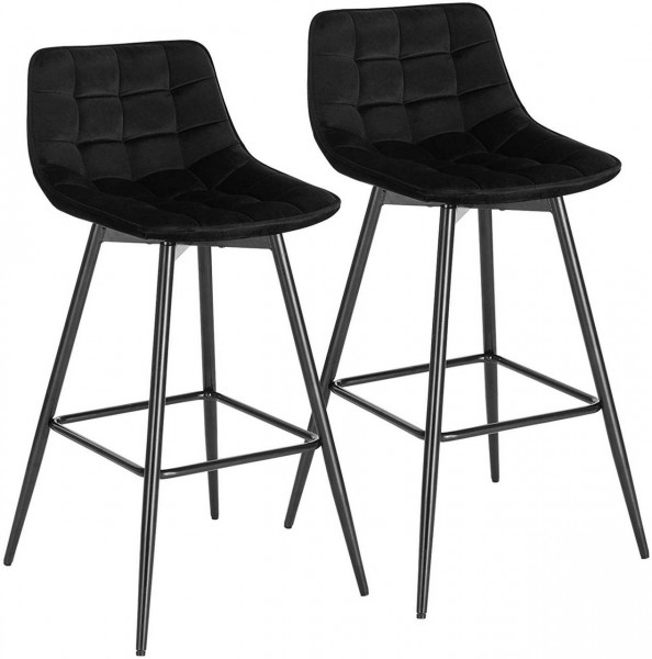 Bar stool with footrest, 2pcs set, model Tanja