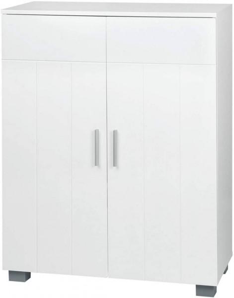 Beistellschrank mit Doppeltür aus MDF weiß