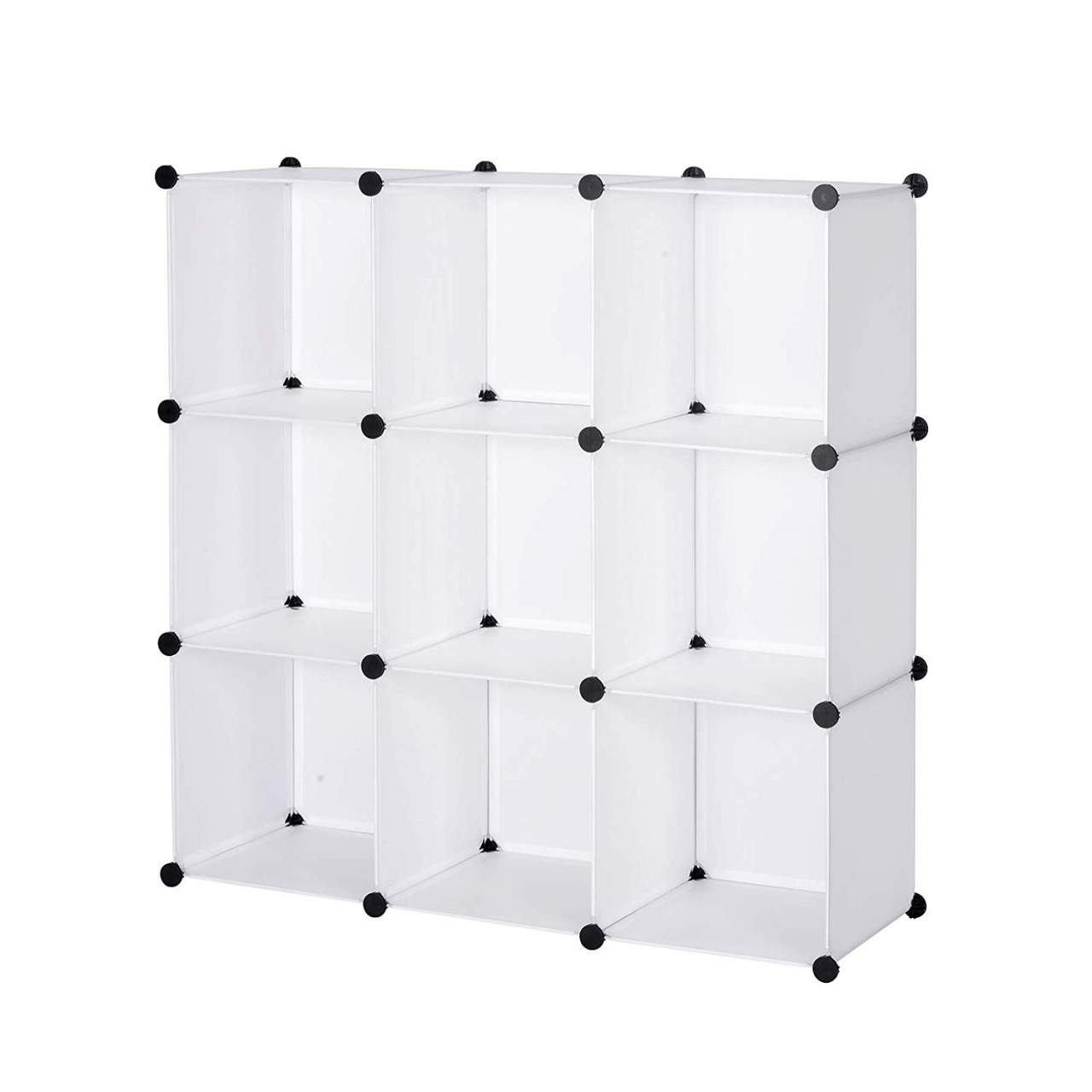 Wardrobe Without Door With Plastic Compartments Woltu Eu