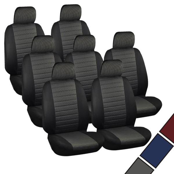Auto Sitzbezüge Schwarz/Grau (7er Set)