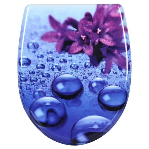 WC-Sitz Duroplast Violett mit Absenkautomatik