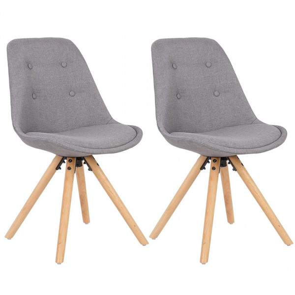2 pieces linen dining chairs - Model Fynn