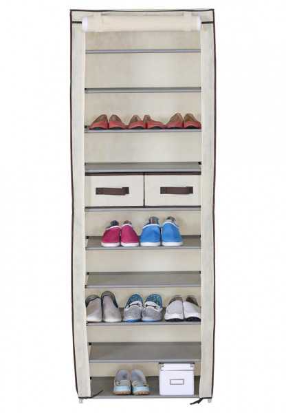 Schuhschrank mit Stoffbezug 11 Schicht