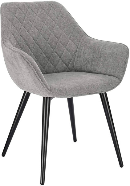 Chenille & metal living room chair - Beca model