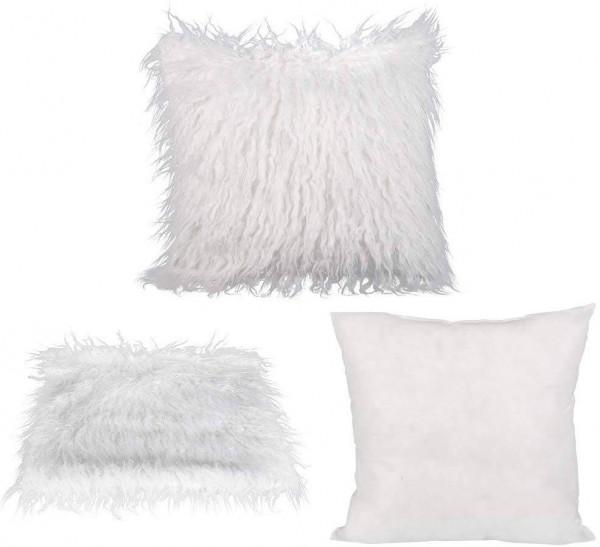 Throw Pillow Cushion Sofa Cushion Cover & Filling Cushion Lambskin Look for Car Bedroom Sofa Decorative
