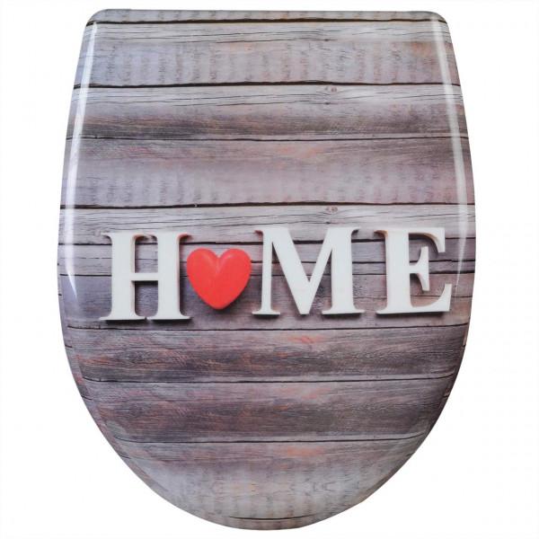 WC-Sitz Duroplast Home mit Rot mit Absenkautomatik und Schnellbefestigung