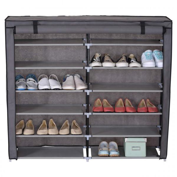 Schuhschrank mit Stoffbezug f
