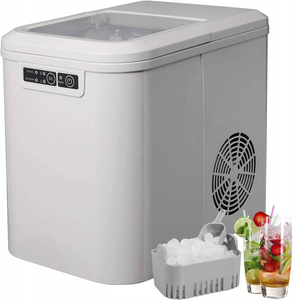 Ice cube machine with 2 ice cube sizes, 2.2 liters, 120 W, ABS