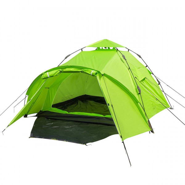 Camping tent for 3 to 4 people waterproof blue