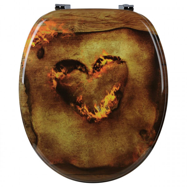 WC-Sitz MDF Heart Burning