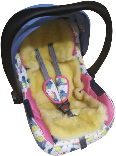 Lammfell Baby-Schafslammfell Kinderwagen Teppich Naturfell, Creme