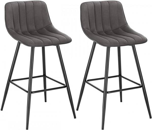 Set of 2 designer bar stools with footrest - model Elif