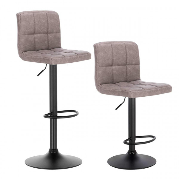 leatherette bar stools, 2pcs set, model Sally