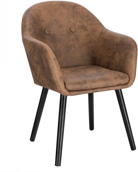 Fabric& wood dining chair - Henny model